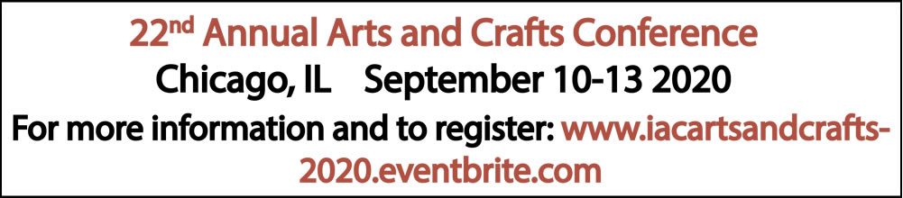 Register NOW for the 22nd Annual Arts and Crafts Conference