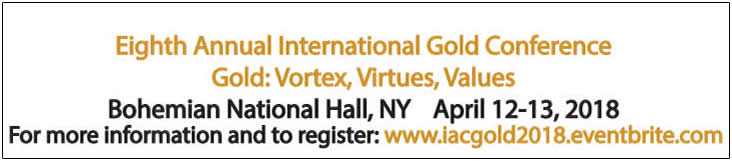 Register now for The IAC Eighth Annual International Gold Conference